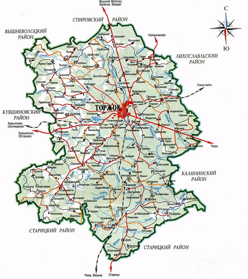 Карта города Торжка, увеличить фото